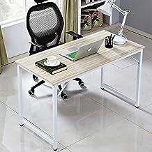 "Soges Computer Desk 47"" PC Desk Office Desk Workstation for Home Office Use Writing Table, White JJ-W-120-CA"