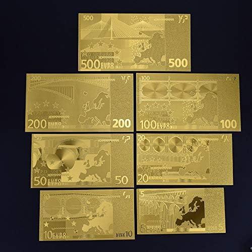 HENGTONGTONGXUN 5 10 20 50 100 200 500 EURO金箔ユーロ紙幣記念ノートデコレーション5 10 20 50 100 200 500 EURコレクション 使いやすい (色 : A)