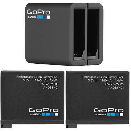 GoPro 2 Genuine Original Rechargeable Battery Pack for HERO4 and GoPro HERO4 Dual Battery Charger For GoPro HD Hero 4 Black Silver AHBBP-401 AHDBT-401