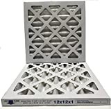 12x12x1 Air Filter, MERV 8, MPR 600, Pleated AC Furnace Air Filter, (Pack of 2) Filters, USA Manufactured