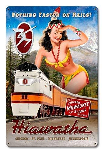 Premium Sign Co Hiawatha Train Pin Up