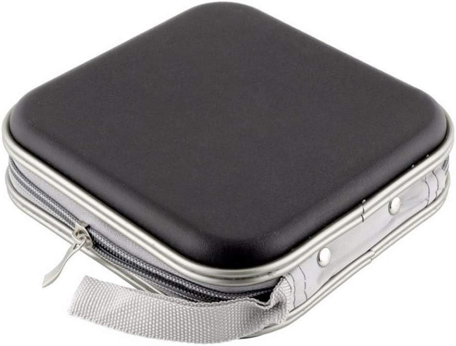 Estuche port/átil para CD Discos de Mezclilla port/átiles de Gran Capacidad Estuche de Almacenamiento Organizador de CD