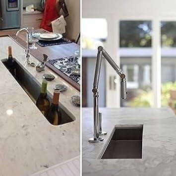 Oban 23 inch Undermount 16 Gauge Stainless Steel Trough Wet Bar or Prep Sink by Zuhne