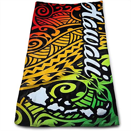 FidgetToy Hawaii Island Impressions Tribal Cooling Towel for Sports-As Cooling Scarf Headband Wristband Bandana-Stay Cool for Yoga Travel Climb Golf Football Tennis & Outdoor Sports