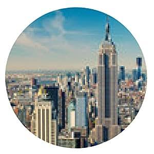 alfombrilla de ratón vista aérea de Manhattan - ronda - 20cm