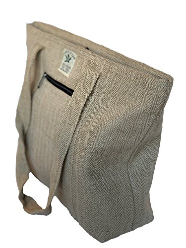 Pure Hemp Hand Bag Tote Bag - Eco Friendly Shopping Bag Beach Bag Travel Bag by The Himalayan Goddess
