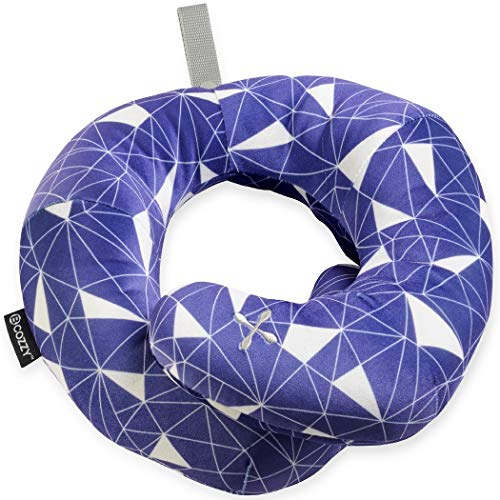 BCOZZY Chin Supporting Patented Travel Pillow - Prevents The Head from Falling Forward in Any Sitting Position, Providing Comfort and Support for The Neck and Head. Adult Size (Galactic) ()