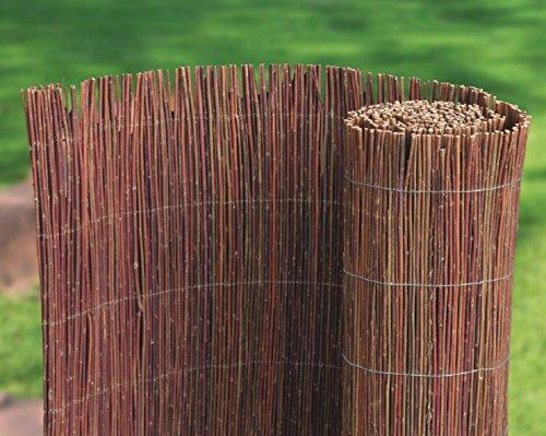 Weidenmatte 300 x 90 cm Rollzaun aus Weidenruten, Naturzaun, Weiden Gartenzaun, 1A Qualität aus Europa