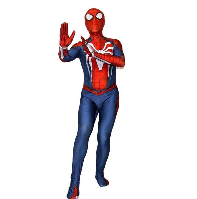 2018 Increíble Traje De Spiderman Adulto Traje Spandex ...