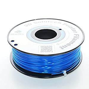 3D Solutech See Through 3D Printer PLA Filament, Dimensional Accuracy +/- 0.03 mm, 2.2 lb. (1.0 kg) - 100% USA, 1.75 mm, PLA from 3D Solutech