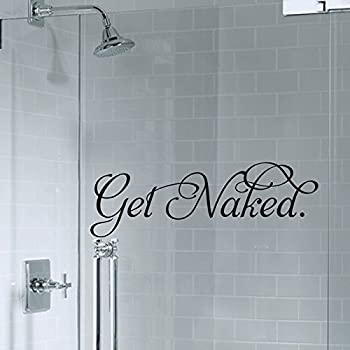 Homefind Free Standing Letters   Get Naked   Removable Waterproof Vinyl Wall  Decals For Shower Room Part 55