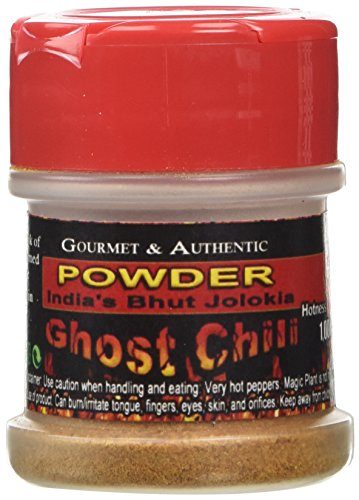 - Ghost Chili Powder 1/2oz - Organic, Authentic Indian Bhut Jolokia - 100% Satisfactions Guarantee