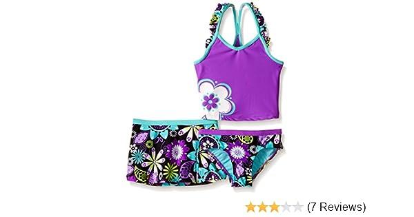 d39101d8aad93 Amazon.com: ZeroXposur Girls' Magic Garden Tankini Swimsuit with Skirt:  Clothing