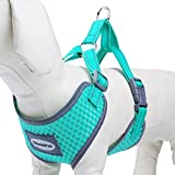 ThinkPet Reflective Breathable Soft Air Mesh No Pull Puppy Dog Vest Harness Neon Green Neck 14-17.5