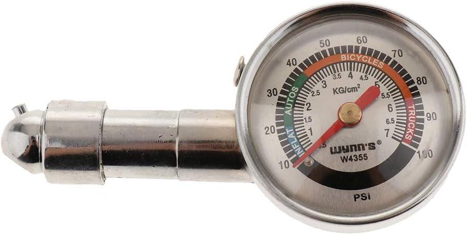 Reifendruckprüfer Metall Luftdruck Prüfer Druckanzeige Auto Reifen Luftdruckprüfer Messbereich 0 100pis Auto