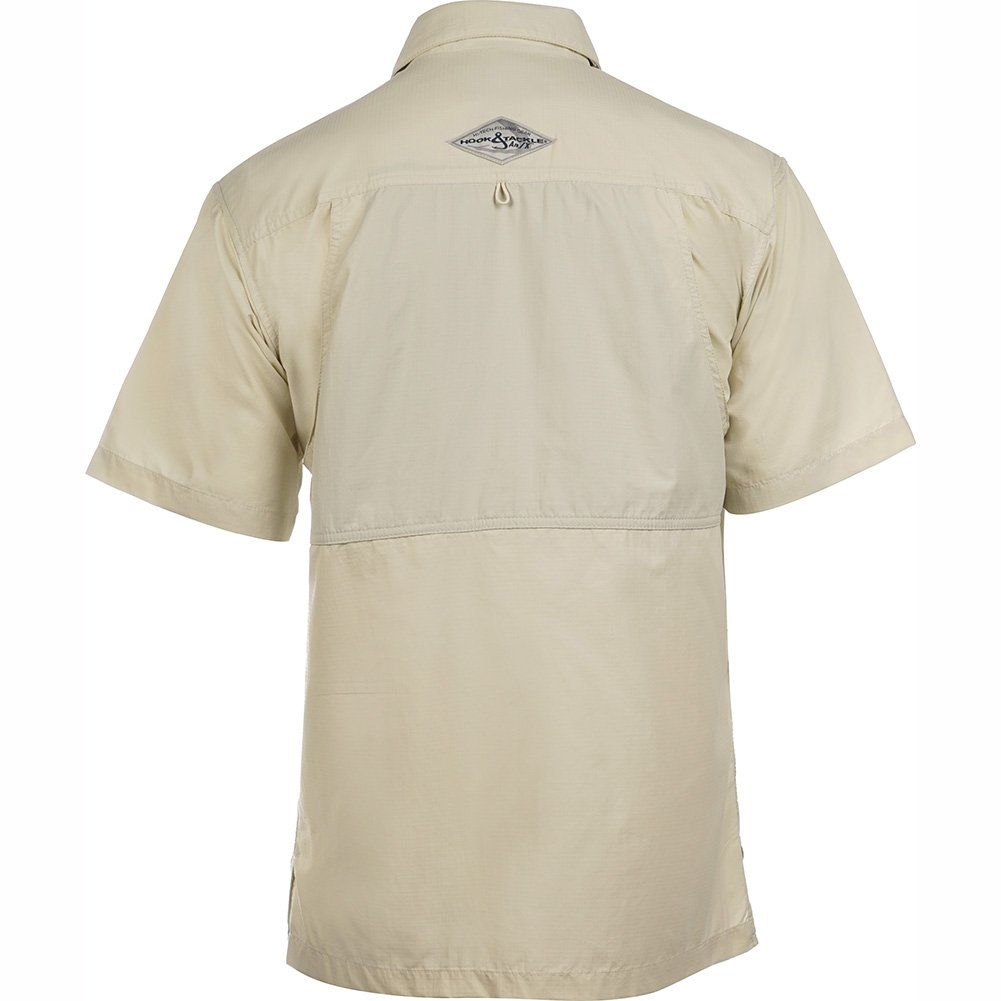 Short Sleeve Hook /& Tackle/® Mens Quayside Air//X Vented UV Sun Protection Performance Fishing Shirt