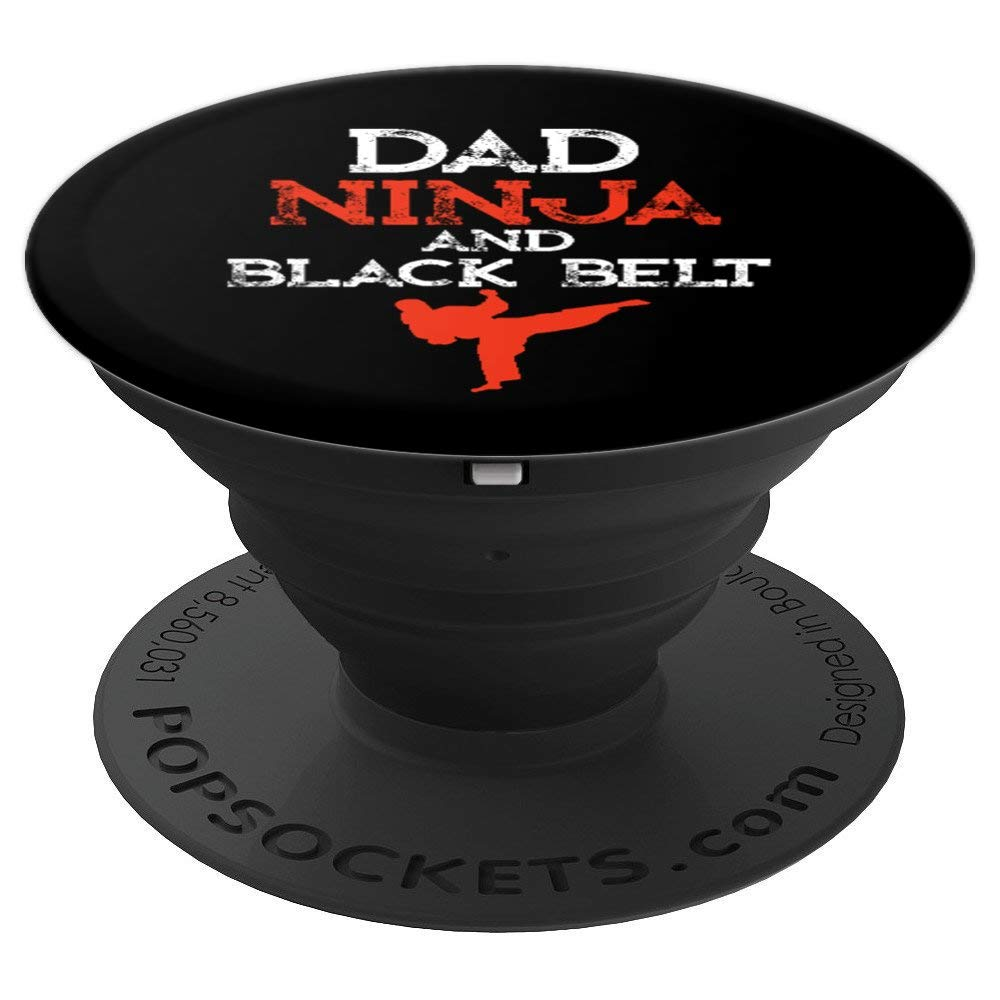 Martial Arts Gifts For Uncle Men Dad Ninja and Black Belt PopSockets Grip and Stand for Phones and Tablets