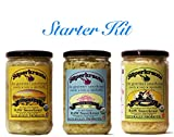 #7: Starter kit combo-pack: raw fermented sauerkraut, organic, probiotic, kosher and unpasteurized No shipping charges with this combo pack.