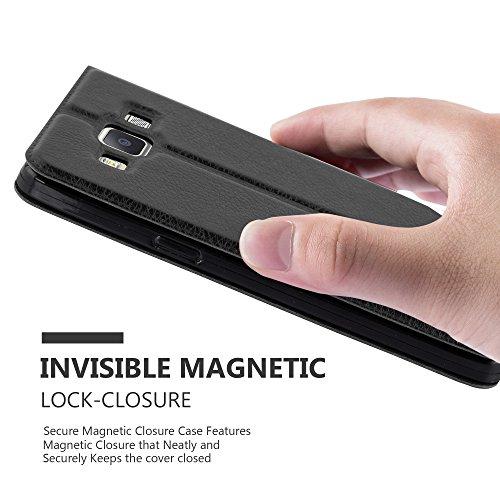 Cadorabo - Funda Book Style de Cuero Sintético en Diseño View para Samsung Galaxy A5 (5) - Modelo 2015 con Imán Invisible. Función de Soporte y Doble Ventana