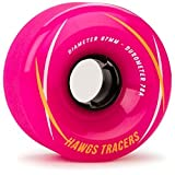 Landyachtz Hawgs Tracers Longboard Wheels - 67mm 78a Pink by Landyachtz