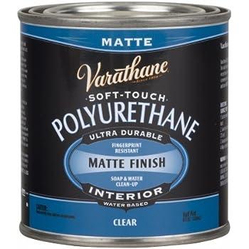 Varathane 262075 Half Pint Clear Matte Finish Soft Touch Polyurethane