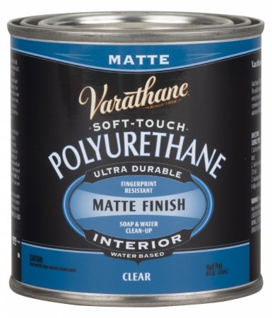 Varathane 262075 Half Pint Clear Matte Finish Soft Touch Polyurethane (Varathane Water)