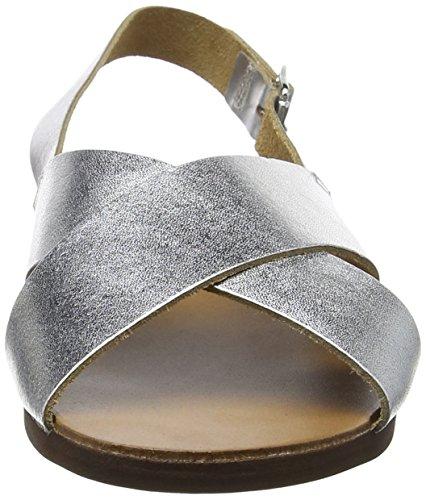 New Look Freda, Sandalias con Tacón Mujer Plata (Silver)
