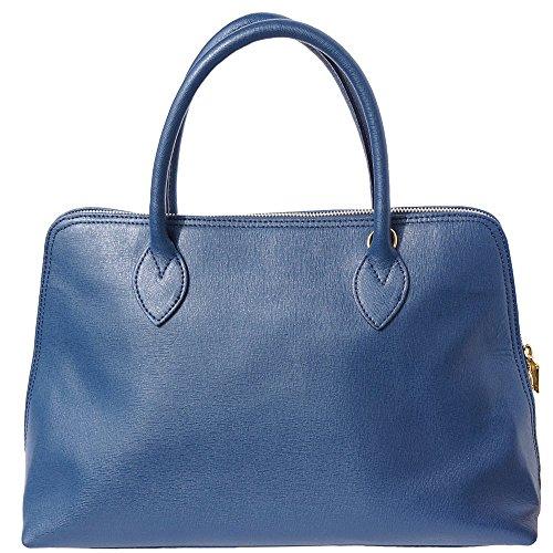 Saffiano Leather Bleu Femme Market 308 Foncé Cuir Cartable Pour Sac Florence En Business AfqzAw