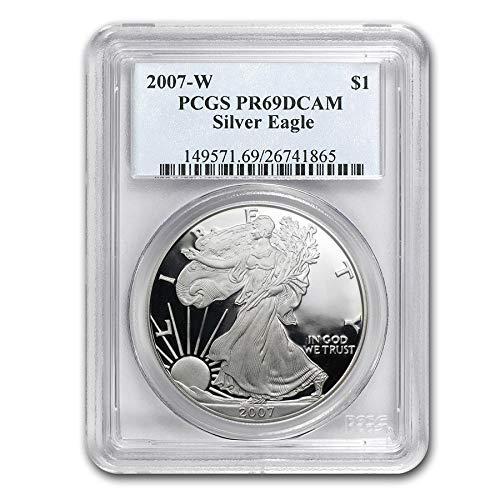 2007 W American Silver Eagle $1 PR-69DCAM PCGS