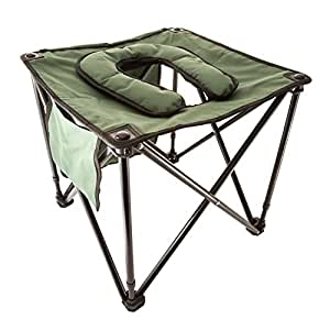 TravelJohn Foldable Commode /Chair (Olive Drab)