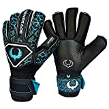 R- GK Triton Specter Roll Cut (Size 6) Soccer Goalie Gloves Youth & Adult with Pro Fingersaves - Improve Goal Blocking - Latest Soccer Goalie Equipment - Men, Women, Boys, Girls, Youth, Jr -  Renegade GK