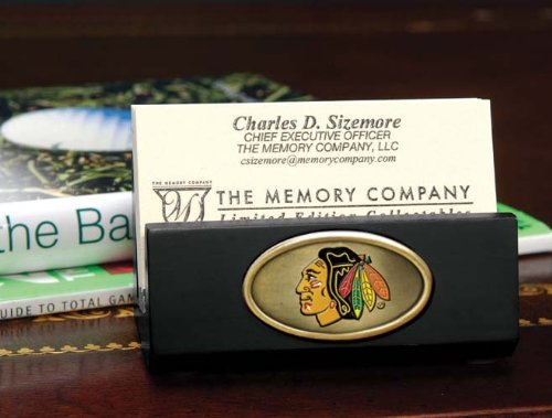 The Memory Company NHL Chicago Blackhawks Official Black Business Card Holder, Multicolor, One (Ncaa Card Holder)