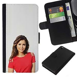 JackGot ( Pretty Girl ) HTC DESIRE 816 la tarjeta de Crédito Slots PU Funda de cuero Monedero caso cubierta de piel