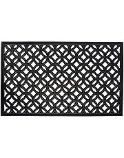 DII Indoor Outdoor Rubber Easy Clean Welcome Doormat, Floor Mat, Rug For Patio, 18 x 30in - Lattice