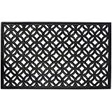 """DII Modern Indoor/Outdoor Easy Clean Rubber Entry Way Doormat For Patio, Front Door, All Weather Exterior Doors, 18 x 30"""" - Lattice"""