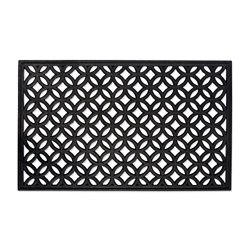 DII Indoor Outdoor Rubber Easy Clean Entry Way Welcome Doormat, Floor Mat, Rug For Patio, Front Door, All Weather Exterior Doors, 18 x 30