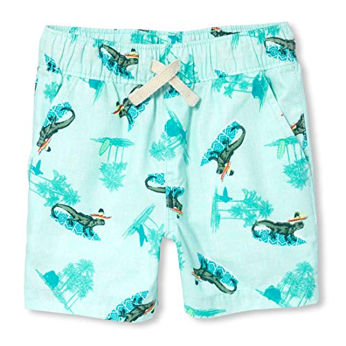 (The Children's Place Baby Boys Woven Jogger Shorts, sea Crystal, 5T)