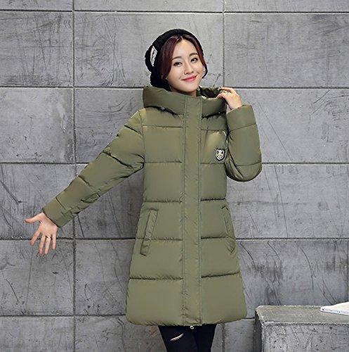 Montagna Taglia invernale In Cotone militare Piumino 2016 imbottito Verde L Cappotto moda Donna Adrienne Capushe Giacca wYSq6CF