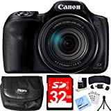 Canon PowerShot SX540 HS 20.3MP Digital Camera w/ 50x Optical Zoom 32GB Card Bundle includes Camera, Card, Reader, Wallet, Case, Mini Tripod, Screen Protectors, Cleaning Kit and Beach Camera Cloth