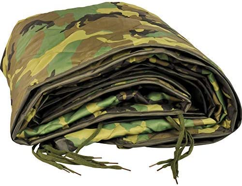 Woodland Military Poncho Liner Manta Woobie Nylon