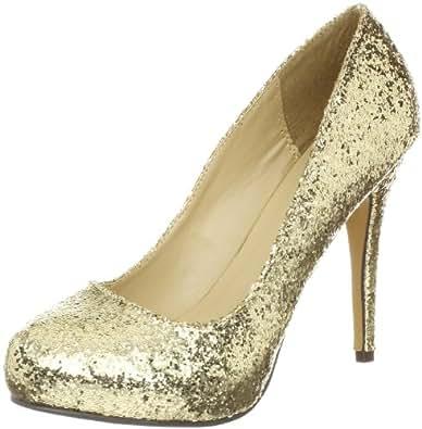 Michael Antonio Women's Loveme-GLT Pump,Gold,11 M US