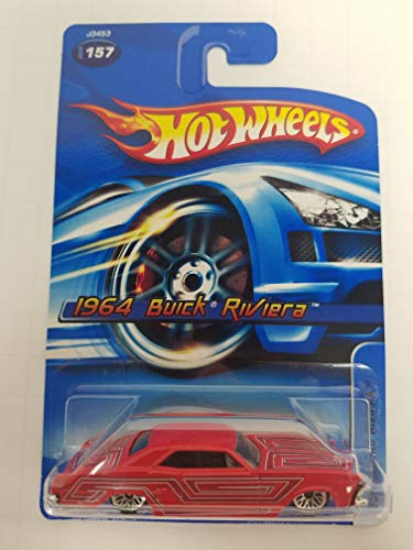 1964 Buick Riviera No.157 Red Color Hot Wheels 2006 1/64 scale diecast car
