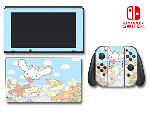 Cinnamoroll and Friends Cute Kitty Bunny Video Game Vinyl Decal Skin Sticker Cover for Nintendo Switch Console System
