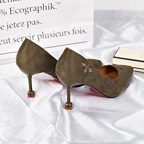 Bouche Pointue Peu Profonde avec Des Talons Hauts Chaussures Uniques Femmes Noires Chaussures de Mode Féminine , abricot , 37 EUR