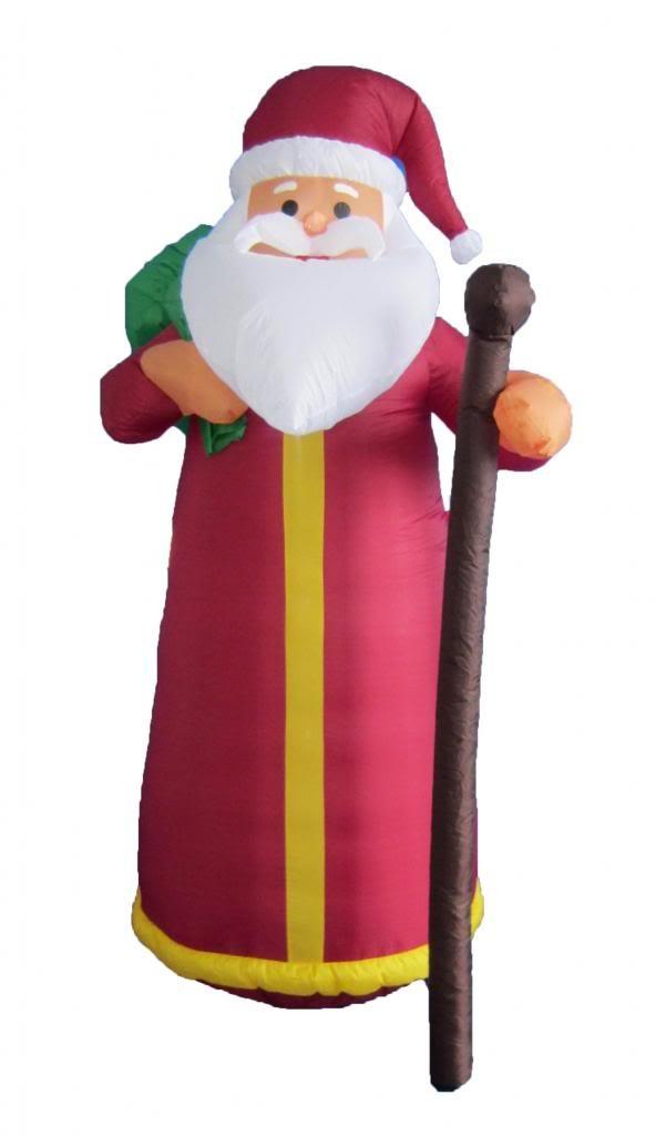 6 pies de altura hinchable de Papá Noel de Navidad: Amazon.es: Hogar