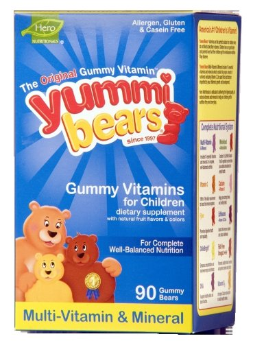 Yummi Bears Multi-Vitamin & Mineral, 90-Count Gummy Bears