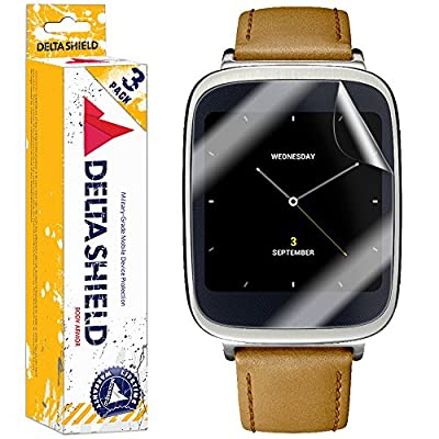 [3-PACK] DeltaShield BodyArmor - Asus ZenWatch Screen Protector - Premium HD Ultra-Clear Cover Shield with Lifetime Warranty Replacements - Anti-Bubble & Anti-Fingerprint Military-Grade Film