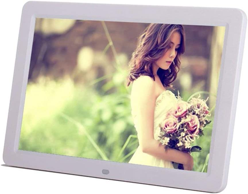 Alician 12inch 1080P HD LED Digital Photo Frame Multifunction Digital Picture Display 1280x800 with Max 32GB Storage USB2.0 Port Black US Plug 16:9