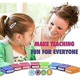 PlayBoom ECR 4 Kids 12-Piece Assorted Self-Inking Student Motivation Teacher Supplies Stamp