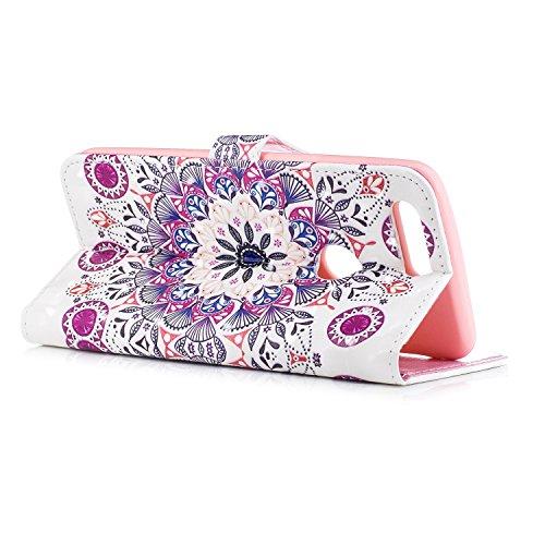 Funda con Tapa para OnePlus 5T, Vandot 3D Creativa Diseño de Flamenco Pintado Impresión Estuche Carcasa Premium PU Cuero Magnético Flip Case Cover con Función de Soporte y Ranuras para Tarjetas Caja d CHPT-7